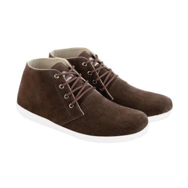 Azzurra 622-01 Suede Sepatu Fashion Pria - Coffee