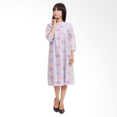 Coeval Adele Dress Batik Wanita - Grey