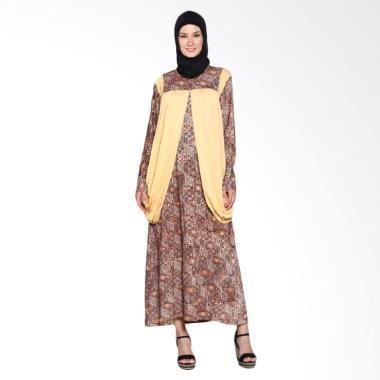 Fafa Collection Marsha 010 Gamis Batik Wanita - Kuning