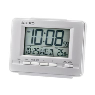 SEIKO QHL070S Digital Desktop Alarm Clock - Silver 2c46b3bf67