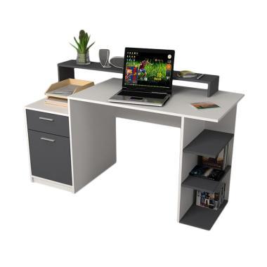 JYSK Desk Matrix Meja Kerja - White Grey [138x60x83 cm]