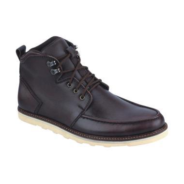 Syaqinah 70 Kulit Boots Pria - Coklat