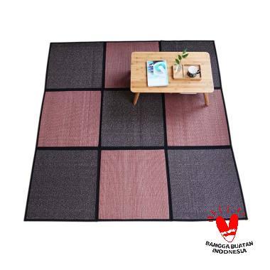The Olive House Mat Karpet - Dark Wine