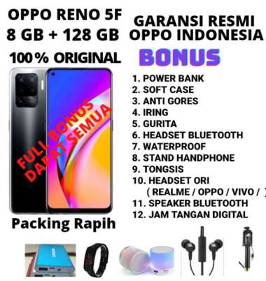 harga OPPO RENO 5F RAM 8/128 GRASS GARANSI RESMI BONUS HEADSET Blibli.com