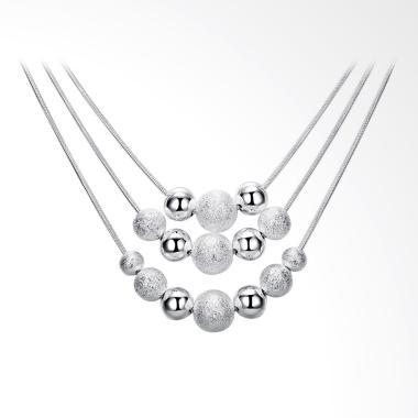 SOXY LKNSPCN020 Brand Fashion Three ...  Necklace Wanita - Silver
