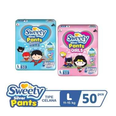 Sweety Silver Pants Popok Celana L50 L 50 - Boy