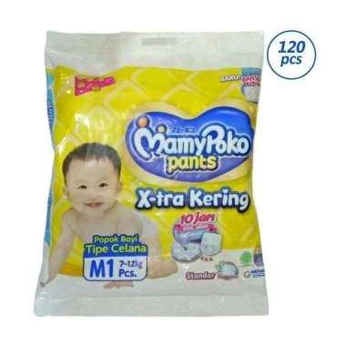 MamyPoko Pants X-Tra Kering Popok Bayi [Size M/ 120 pcs/ Dus]