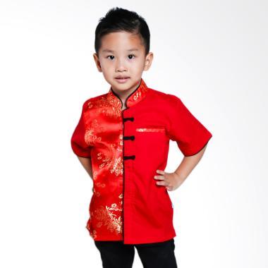 Versail Kids SM8095 Kemeja Cheongsa ... asan Anak Laki-laki - Red