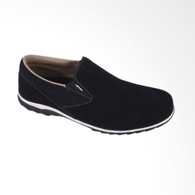 Catenzo Slip On Casual Sepatu Pria - Black [Catenzo 23]