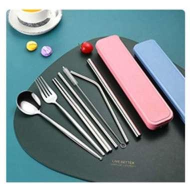 harga Jual OURCIQ Set Perlengkapan Makan Sendok Garpu Sumpit Cutlery Set Box 5123 - Silver Limited Blibli.com