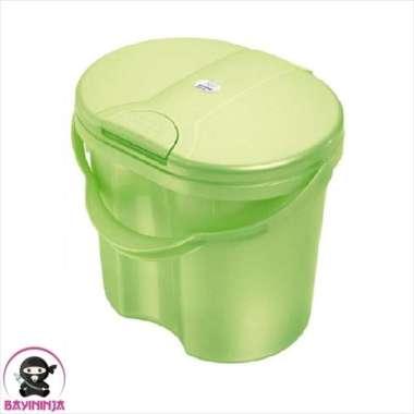 harga ROTHO Nappy Pail Ember Popok Tutup - Mintgreen Pearl multicolor Blibli.com