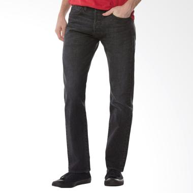 Levi's 501 Original Fit Jeans Pria  ... ck Str Black [00501-2588]