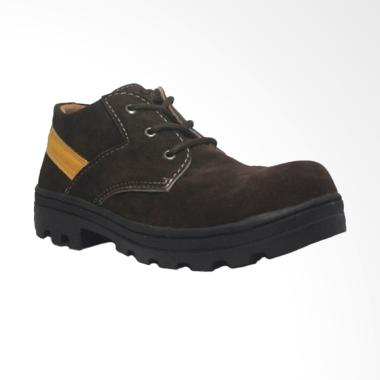 Cut Engineer Safety Boots Classic Sepatu Pria - Dark Brown