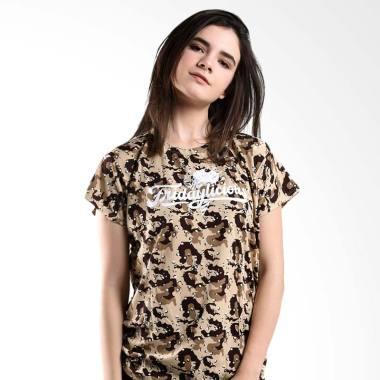 LEMONE KAE100098 T-shirt Baju Wanita - Krem