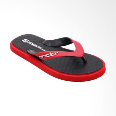 Ando Hawaii Fashion Sandal Jepit Pria - Black Red