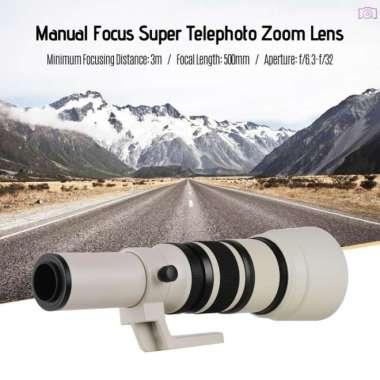 harga Lensa Telefoto Zoom Fokus Manual T2 500mm F6.3 Untuk Kamera Canon Multicolor Blibli.com