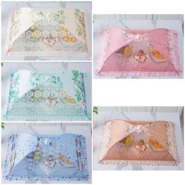 harga Umbrella Food Cover Square-Tudung saji lipat payung - Motif Multicolor Blibli.com
