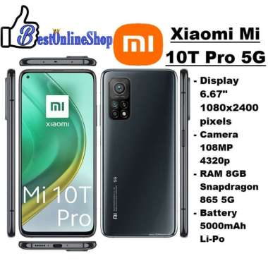 harga Xiaomi Mi 10T Pro 5G Garansi Resmi 1 Tahun Original AURORA BLUE Blibli.com
