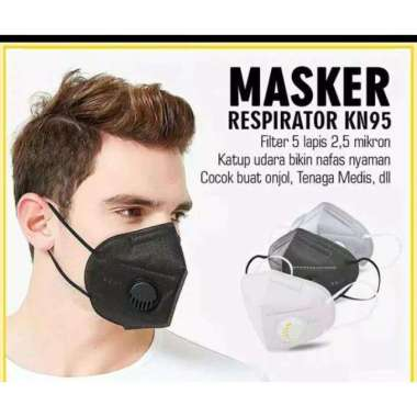 harga Masker KN95 Respirator Filter Eceran Hitam Blibli.com