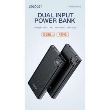 Promo Robot Powerbank power bank RT190 10000 Mah Dual Input Type C  Micro Limited