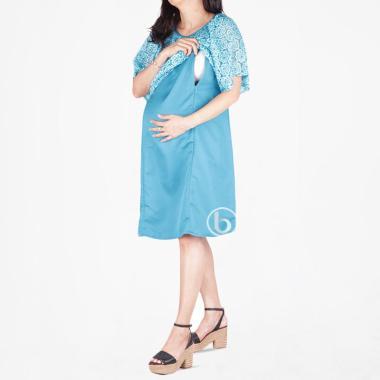 HMILL 1530 Dress Hamil Menyusui Formal - Biru