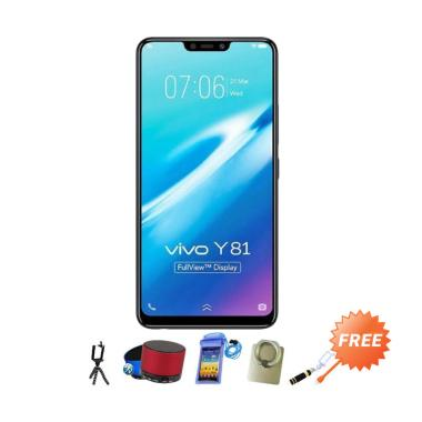 VIVO Y81 Smartphone - Black [16GB/ 3GB] + Free Aksesoris 8 pcs