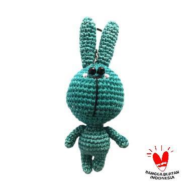 harga Dee Amigurumi Rabbit Line Gantungan Boneka - Biru Blibli.com