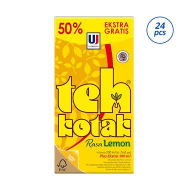 harga Ultra Teh Kotak Rasa Lemon Box Minuman Teh [300 mL/ 24 pcs] Blibli.com