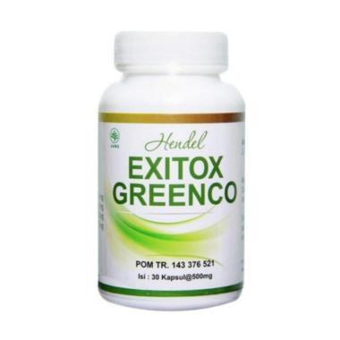 Hendel Exitox Greenco Obat Pelangsing Herbal [30 Kapsul/ Original]