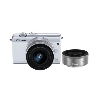 FOCUS NUSANTARA - Canon EOS M200 Kit EF-M15-45mm f/3.5-6.3 IS STM & EF-M22mm f/2 STM WHITE