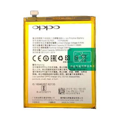 harga OPPO ORRIS BLP631 Baterai Handphone for OPPO F3/ F5/ A73/ A77 [Original/   3200 mAh] Blibli.com