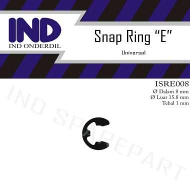 harga IND Onderdil Snap Ring -Circlip-Ring-Clip-Klip-Pengunci-Retaining E-8-E8 38 3-8 HItam Blibli.com