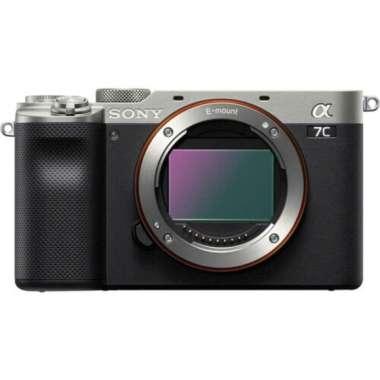 harga Sony Alpha a7C Mirrorless Digital Camera [Body Only] + PWP GP-VPT2BT Wireless Shooting Grip Silver Blibli.com
