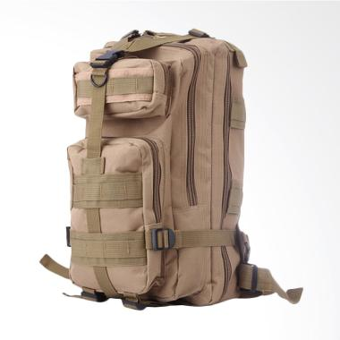 Army Canvas Military Tactical Backpack Pria - Khaki