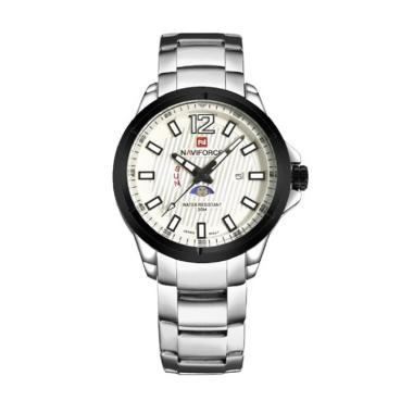 Naviforce NF09084 Jam Tangan Pria - Silver Putih