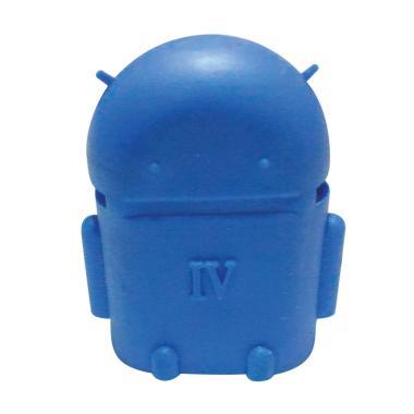 OTG Bentuk Robot Android Adaptor Micro USB - Biru
