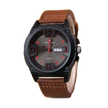 Jam Tangan Swiss Army 002 Wanita -Black Brown