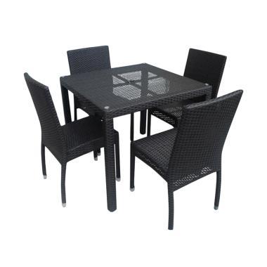 Prissilia Meja Taman 4 Seater Cubic Table Sets