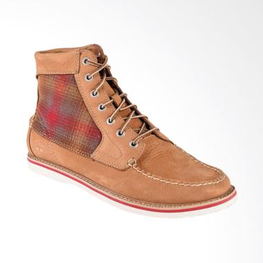 Timberland Sherbourne 7 Eye Moc Toe Sepatu Boot - Light Brown