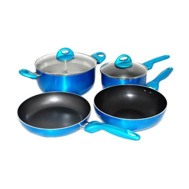Supra Rosemary Cookware Panci Set - Biru [7 pcs]