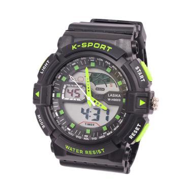 Lasika W-H 9003 Jam Tangan Digital Analog Unisex - Green