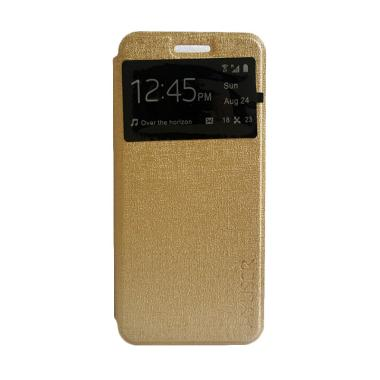 MyUser Flip Cover Casing for Oppo Neo 5 - Gold