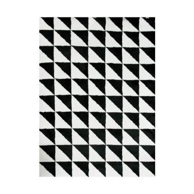 Vision Pop Triangle Karpet - Black & White [110 x 160 cm]