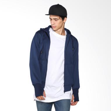 VM Hoodie Zipper Pria Polos ZIP Jaket - Navy Blue