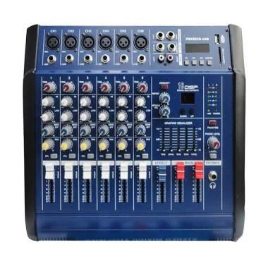 Dusen Berg PMX-602D 6 Channel Power Audio Mixer