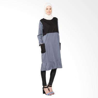 Chick Shop Cute CO-60-01-AH Dress Moslem - Black Grey