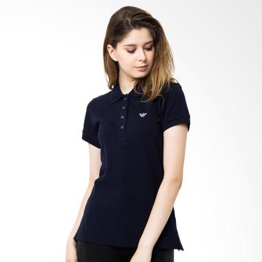Efesu Short Sleeves Polo Shirt Wanita - Navy
