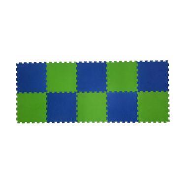 Ari Jaya Polos Karpet Puzzle - Biru Hijau [10 Pcs]