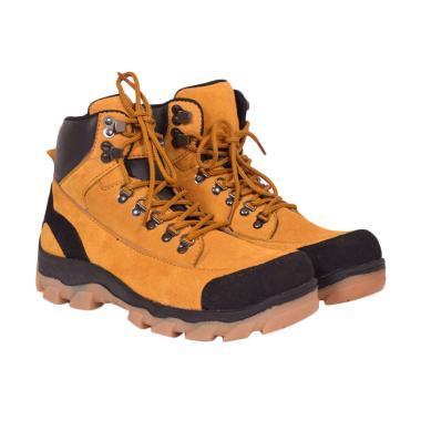 Azcost Hiking Safety Sepatu Boots Pria - Tan