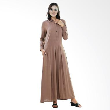 Azzura 586-02 Long Dress Muslim Wanita - Coklat